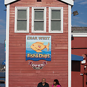 The wharf in Santa Barbara, California offers fishing, shopping and dining.