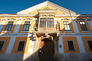 Jånos Xantus Museum - The Abbott's House - 5 Szechenyi Square - Baroque with Rocco Style protruding Balcony - ( Gy?r )  Gyor Hungary .<br /> <br /> Visit our HUNGARY HISTORIC PLACES PHOTO COLLECTIONS for more photos to download or buy as wall art prints https://funkystock.photoshelter.com/gallery-collection/Pictures-Images-of-Hungary-Photos-of-Hungarian-Historic-Landmark-Sites/C0000Te8AnPgxjRg