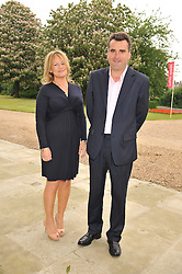 WENDY CRABB chairman of the Friends of The Royal Marsden and ALEX de CAPELL BROOKE at a Summer Drinks Party hosted by The Friends of The Royal Marsden, Chelsea held at The Royal Hospital Chelsea, Royal Hospital Road, London SW3 on 14th June 2012.