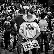 Viva Trump - Farmworkers support Donald Trump at a presidential Campaign Rally in Fresno, California.