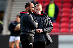 Mark McCall director of rugby for Saracens talks with coach Joe Shaw - Mandatory by-line: Matt McNulty/JMP - 20/11/2016 - RUGBY - AJ Bell Stadium - Sale, England - Sale Sharks v Saracens - Aviva Premiership