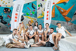 Slovenian National Climbing team posing for social media of Prva Osebna zavarovalnica before new season, on June 30, 2020 in Koper / Capodistria, Slovenia. Photo by Vid Ponikvar / Sportida