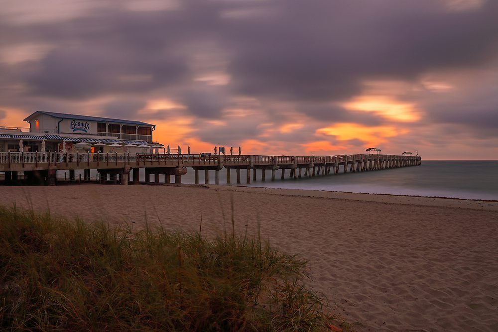 South Florida sunrise photography of Lake Worth Pier and beach in Palm Beach County, FL. This Florida Lake Worth fishing pier long exposure photography image is available as museum quality photography prints, canvas prints, acrylic prints or metal prints. Fine art prints may be framed and matted to the individual liking and interior design décor needs:<br /> <br /> http://juergen-roth.pixels.com/featured/lake-worth-pier-juergen-roth.html<br /> <br /> All Lake Worth Beach Pier Florida photo pictures available for digital and print image licensing at www.RothGalleries.com. Please contact me direct with any questions or request.<br /> <br /> Good light and happy photo making!<br /> <br /> My best,<br /> <br /> Juergen<br /> Prints: http://www.rothgalleries.com<br /> Photo Blog: http://whereintheworldisjuergen.blogspot.com<br /> Twitter: @NatureFineArt<br /> Instagram: https://www.instagram.com/rothgalleries<br /> Facebook: https://www.facebook.com/naturefineart