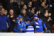 Reading supporters celebrates after Reading's Omar Richards (50) scores a goal to make it 0-1 during the EFL Sky Bet Championship match between Nottingham Forest and Reading at the City Ground, Nottingham, England on 20 February 2018. Picture by Jon Hobley.
