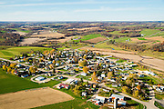 Aerial photograph of Hollandale, Wisconsin and rural Wisconsin.