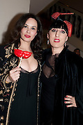 Celia Forner-Venturi; Rossy De Palma, The Surrealist Ball in aid of the NSPCC. Hosted by Lucy Yeomans and Harry Blain. Banqueting House. Whitehall. 17 March 2011. -DO NOT ARCHIVE-© Copyright Photograph by Dafydd Jones. 248 Clapham Rd. London SW9 0PZ. Tel 0207 820 0771. www.dafjones.com.
