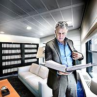 Nederland,Hilversum, 21 February 2008..Journalist and criminal investigator Peter R. de Vries.