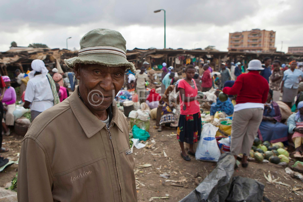 Frederick Kamau the manager of Makongeni market, Thika, Kenya. The market work closely with AFCIC, Action for children in conflict, and are trying to encourage the children to go to school. Frederick has banned children from working in the market during school hours.