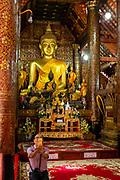 Image of the interior of  Wat Xiengthong, Luang Prabang, Laos.