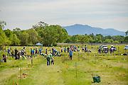 Laguna de Santa Rosa Foundation's 2015 Re-Leaf day. Volunteers plant native trees and shrubs to rehabilitate  a riparian corridor in the Laguna de Santa Rosa near Sebastopol in Sonoma County, California