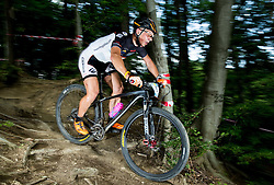 Gregor Dimic during Cross Country XC Mountain bike race for Slovenian National Championship in Kamnik, on July 12, 2015 in Kamnik,  Slovenia. Photo by Vid Ponikvar / Sportida