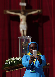 October 14, 2017 - Vatican City State (Holy See) - POPE FRANCIS during the audience with members of the Vincentian Family Group in St. Peter's Square at the Vatican  (Credit Image: © Evandro Inetti via ZUMA Wire)