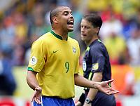 Ronaldo Brasilien<br /> Fussball WM 2006 Achtelfinale Brasilien - Ghana<br /> Brasil - Ghana<br /> Norway only
