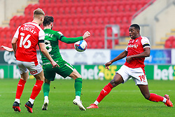 Wes Harding of Rotherham United attempts to gain possession from Alan Browne of Preston North End - Mandatory by-line: Ryan Crockett/JMP - 07/11/2020 - FOOTBALL - Aesseal New York Stadium - Rotherham, England - Rotherham United v Preston North End - Sky Bet Championship