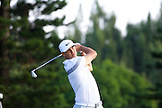 January 09 2016: Brooks Koepka tees off on the second hole during the Third Round of the Hyundai Tournament of Champions at Kapalua Plantation Course on Maui, HI. (Photo by Aric Becker)