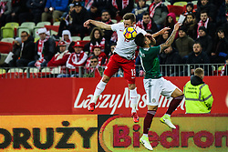 November 13, 2017 - Gdansk, Poland - Maciej Rybus (POL) vies Jonathan dos Santos (MEX)  during the International Friendly match between Poland and Mexico at Energa Stadium in Gdansk, Poland on November 13, 2017. (Credit Image: © Foto Olimpik/NurPhoto via ZUMA Press)