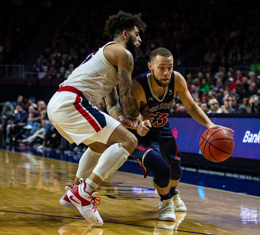 Mar 12 2019  Las Vegas, NV, U.S.A. St. Mary's guard Jordan Ford (3) drives to the basket during the NCAA  West Coast Conference Men's Basketball Tournament championship between the Gonzaga Bulldogs and the Saint Mary's Gaels 60-47 win at Orleans Arena Las Vegas, NV.  Thurman James / CSM