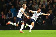 Tottenham's Harry Kane celebrates scoring his sides second goal - Aston Villa vs. Tottenham Hotspurs - Barclay's Premier League - Villa Park - Birmingham - 02/11/2014 Pic Philip Oldham/Sportimage