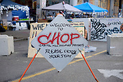 """Seattle """"CHAZ"""" or """"CHOP"""" area of Capitol Hill"""