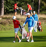 HILVERSUM - Germany vs Austria (2,5-0,5)  Niklas Regner (Austria)  during the foursomes. Quarter finals. ELTK Golf 2020 The Dutch Golf Federation (NGF), The European Golf Federation (EGA) and the Hilversumsche Golf Club will organize Team European Championships for men. COPYRIGHT KOEN SUYK