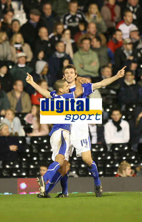Photo: Marc Atkins.<br /> Fulham v Leicester City. The FA Cup. 17/01/2007.