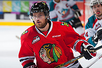 KELOWNA, CANADA - MAY 1: Chase De Leo #9 of Portland Winterhawks skates against the Kelowna Rockets  during game 5 of the Western Conference Final on May 1, 2015 at Prospera Place in Kelowna, British Columbia, Canada.  (Photo by Marissa Baecker/Getty Images)  *** Local Caption *** Chase De Leo;