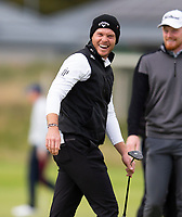 Golf - 2021 Alfred Dunhill Links Championship - Day Four - The Old Course at St Andrew's - Day Four -  Sunday 3rd October 2021<br /> <br /> Jimmy Dunne with Danny Willett after he holes a putt on the 4th green<br /> <br /> Credit: COLORSPORT/Bruce White