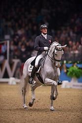 Eilberg Michael (GBR) - Half Moon Delphi<br /> Kur - Reem Acra FEI World Cup Dressage Qualifier - The London International Horse Show Olympia - London 2012<br /> © Hippo Foto - Jon Stroud