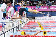Team SWEDEN ELIASSON Isak, HANSSON Louise<br /> London, Queen Elizabeth II Olympic Park Pool <br /> LEN 2016 European Aquatics Elite Championships <br /> Swimming<br /> Mixed 4x100m freestyle preliminary<br /> Day 12 20-05-2016<br /> Photo Giorgio Perottino/Deepbluemedia/Insidefoto
