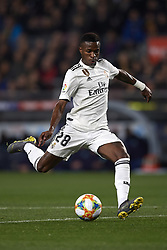 February 6, 2019 - Barcelona, Barcelona, Spain - Vinicius Junior of Real Madrid during the Spanish Cup (King's cup), first leg semi-final match between FC Barcelona and  Real Madrid at Camp Nou stadium on February 6, 2019 in Barcelona, Spain. (Credit Image: © Jose Breton/NurPhoto via ZUMA Press)