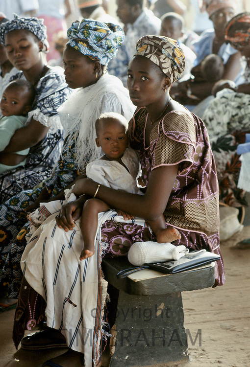 Mothers with their children at Hospital Health Centre in The Gambia, Africa