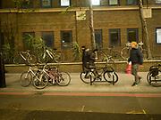 Bikes at London Bridge outside the hospital, . 30 November 2017