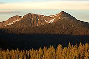 Northwest Peak Scenic Area at sunset. Purcell Mountains, northwest Montana.