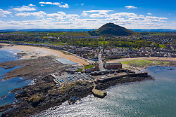 Aerial view of North Berwick in East Lothian, Scotland, UK
