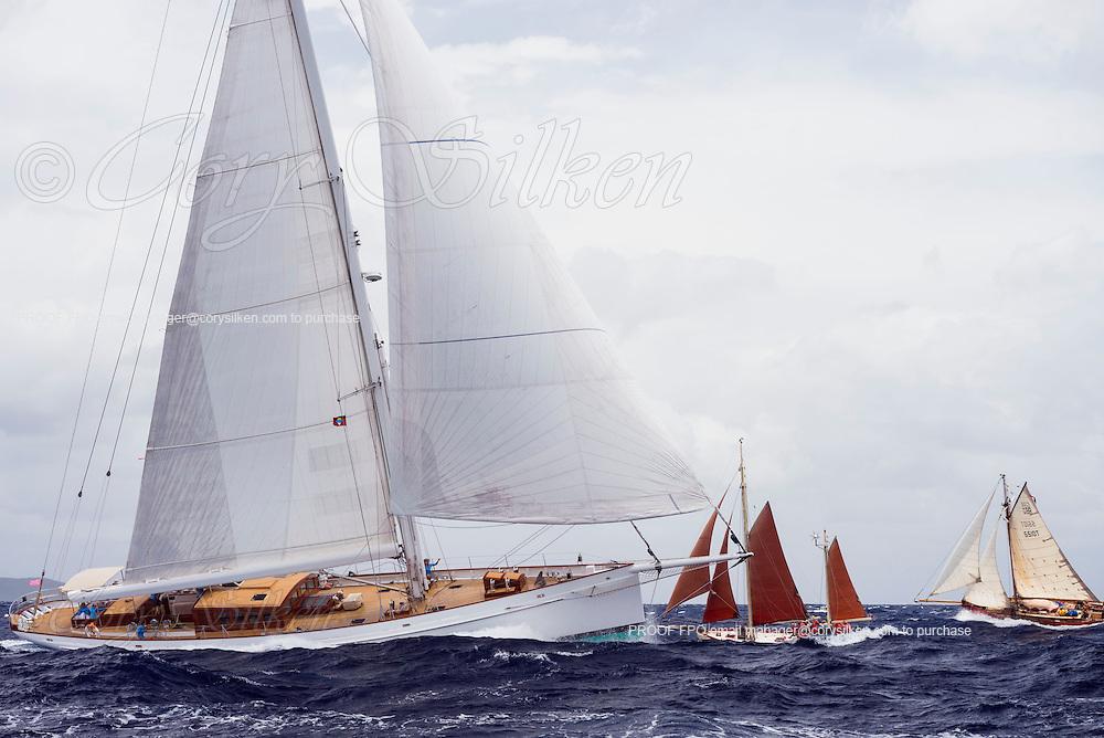 Carl Linne sailing in the Antigua Classic Yacht Regatta, Cannon Race.