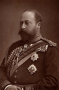 Edward VII (1841-1910) king of the United Kingdom from 1901, while still Prince of Wales.  From 'The Cabinet Portrait Gallery' (London, 1890-1894).  Woodburytype after photograph by W & D Downey.