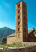 SPAIN, NORTH, ARAGON the Pyrenees; San Clemente Basilica, a Romanesque masterpiece built in 1123 in Tahull, northeast of Jaca