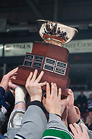 KELOWNA, CANADA - APRIL 30: The Seattle Thunderbirds earn the Western Conference title and move on to play in the WHL final after beating the Kelowna Rockets in game 6 to end the series 4 games to 2 on April 30, 2017 at Prospera Place in Kelowna, British Columbia, Canada.  (Photo by Marissa Baecker/Shoot the Breeze)  *** Local Caption ***