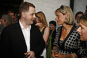 MATTHEW D'ANCONA AND EMILY MAITLIS, The Spectator At Home. Doughty St. 6 July 2006. ONE TIME USE ONLY - DO NOT ARCHIVE  © Copyright Photograph by Dafydd Jones 66 Stockwell Park Rd. London SW9 0DA Tel 020 7733 0108 www.dafjones.com