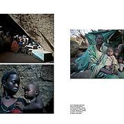 "Tearsheet of ""Humanitarian crisis in the Nuba Mounatins, Sudan"" published in Courrier Internacional"