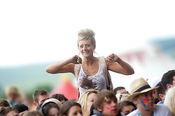 Fans of McFly on the main stage on Sunday at T in the Park 2012, held at Balado, in Fife, Scotland.