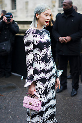 Irene Kim is seen on the street attending Valentino during Paris Women's Fashion Week A/W 2018 wearing Valentino on March 4, 2018 in Paris, France.  (Photo by Nataliya Petrova/NurPhoto/Sipa USA)