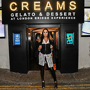 HunnyB - Jennifer Lopez lookalike arrived BBC1 All Together Now Series 1 Cast Members, fright night at The London Bridge Experience & London Tombs on 28 October 2018, London, UK.