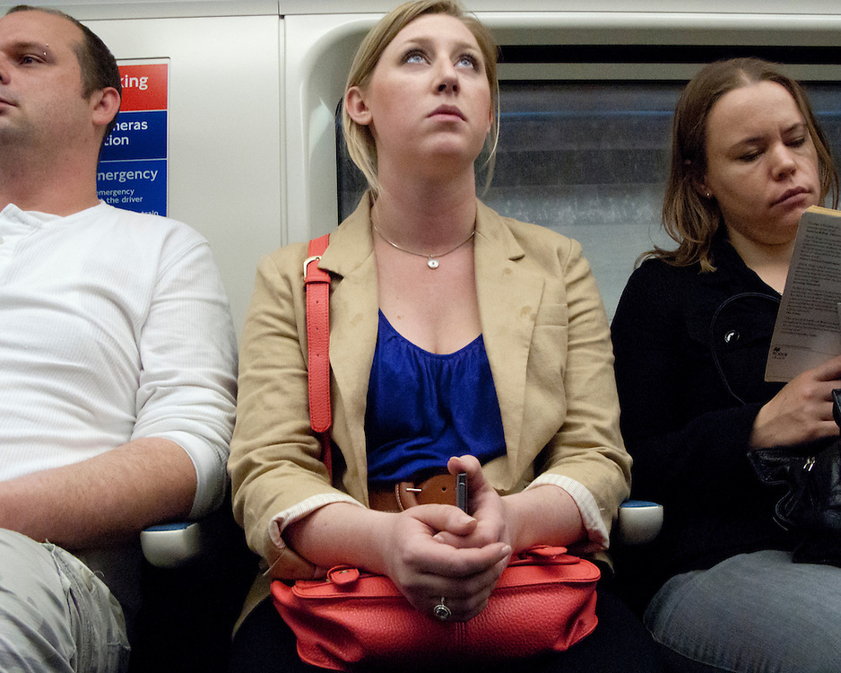 Portrait of a female londoner travelling on the London Underground Network