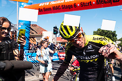January 20, 2019 - Adelaide, South Australia, Australia - Cameron Meyer, Team Mitchelton Scott at sign in,Stage 6 of the Tour Down Under, Australia on the 20 of January 2019  (Credit Image: © Gary Francis/ZUMA Wire)