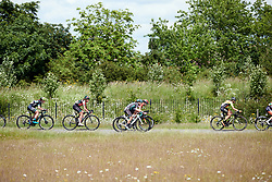Leah Thomas (USA) in a strung out bunch at Stage 2 of 2019 OVO Women's Tour, a 62.5 km road race starting and finishing in the Kent Cyclopark in Gravesend, United Kingdom on June 11, 2019. Photo by Sean Robinson/velofocus.com