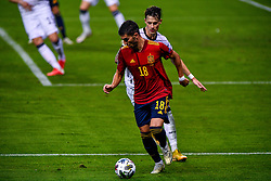 SEVILLE, SPAIN - Tuesday, November 17, 2020: Ferran Torres of Spain during the UEFA Nations League match between Spain and Germany at Estadio La Cartuja de Sevilla. (Photo by Pablo Morano/Orange Pictures via Propaganda)