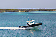 Boaters off Eleuthera Island, The Bahamas.