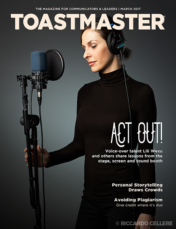 Portrait photography. Lili Wexu, voice actress, for cover of Toastmaster magazine. 2007.