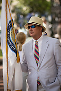 A participant takes part in Carolina Day celebrations and parade on June 28, 2013 in Charleston, South Carolina. Carolina Day celebrates the American victory at the Battle of Sullivan's Island, SC on June 28, 1776.